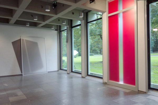ANSCHEINEND / APPARENTLY, 2015, Installation, mixed media, 450 x 170 x 22 cm (Innenansicht)