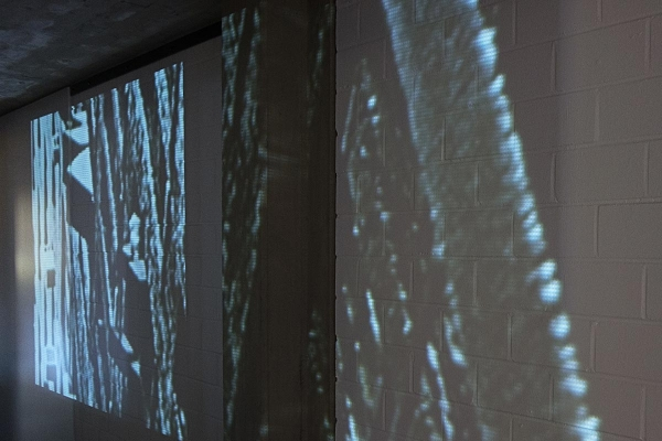 the virtual in the concrete, 2015 Projektion / Projection, 1000 x 650 cm, Clemens Sels Museum Neuss, 2015