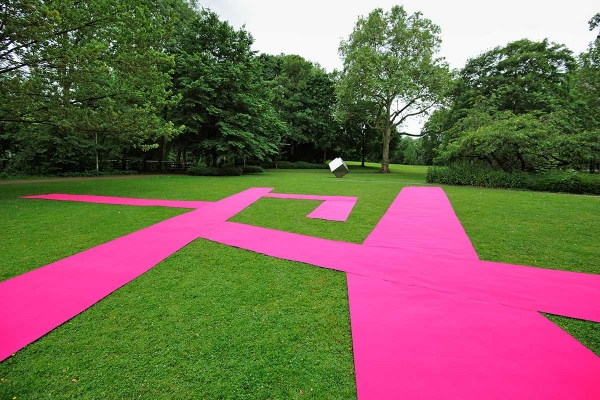 Installation Art, mapping the city, 2012, fitted carpet, 3000 x 2100 cm, Clemens Sels Museum Neuss
