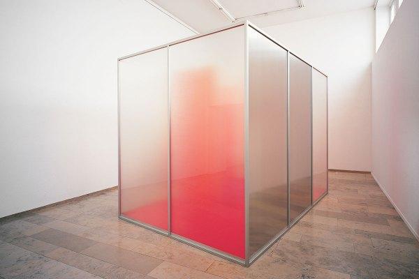 Rita Rohlfing, Installation Art, Color Space, Farbraum, 2000, Acrylglas, Aluminium, Lackfarbe, Profile, 306 x 421 x 282 cm