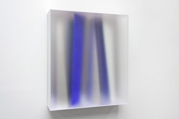 Rita Rohlfing, Color Space Object, IMMATERIAL BLUE SPACE, 2015, Acrylglas, Acrylfarbe, 100 x 87,5 x 22 cm