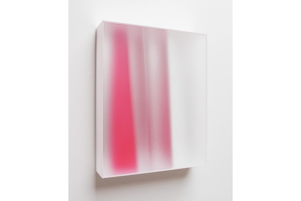 Rita Rohlfing, Color Space Object, bright red, 2014, Acrylglas, Acrylfarbe, 80 x 65 x 17cm