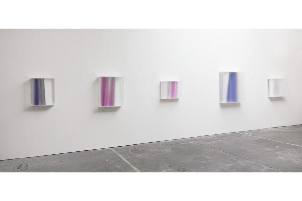 Rita Rohlfing, Color Space Objects, Präsentationsansicht im Atelier / studio Rita Rohlfing