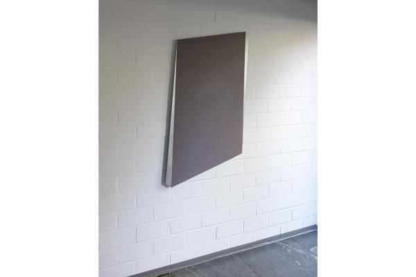 Rita Rohlfing, untitled space, 2000-2013, Aluminium, Lackfarbe,120 x 72 x 3 cm, Collection: Clemens Sels Museum Neuss