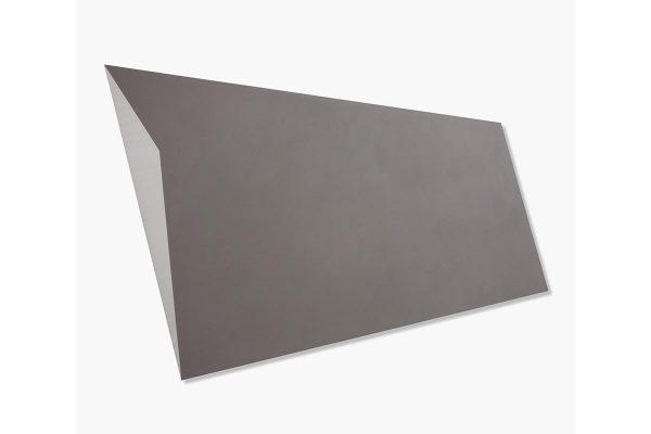 Rita Rohlfing, Color Field Painting, Shaped Aluminum, o.T. / untitled, 2001, Aluminium, Lackfarbe, 76 x 124 x 3 cm