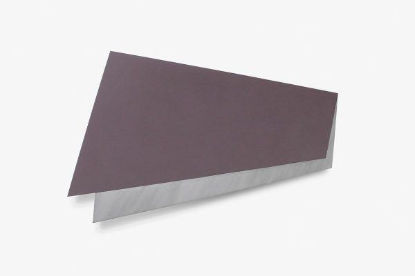 Rita Rohlfing, Color Field Painting, Shaped Aluminum, untitled grey, 2001, Aluminium, Lackfarbe, 40,5 x 90 x 3 cm