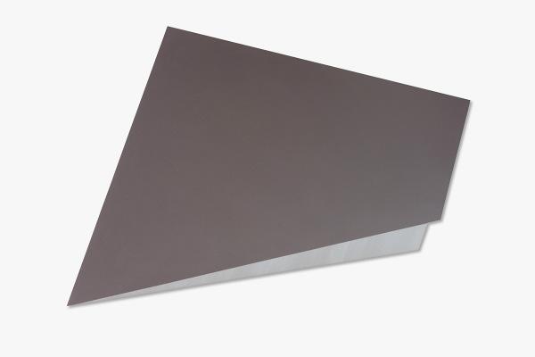Rita Rohlfing, Color Field Painting, Shaped Aluminum,o.T. / untitled, 2003, Aluminium, Lackfarbe, 52 x 95 x 3 cm