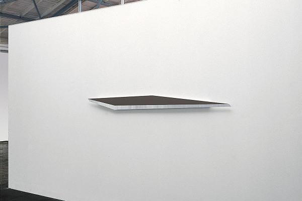 Rita Rohlfing, Color Field Painting, Shaped Aluminum, o.T. / untitled, 2003, Aluminium, Lackfarbe, 20 x 250 x 3 cm